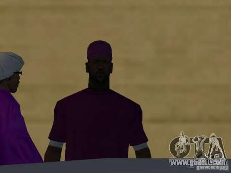 New skins Ballas for GTA San Andreas seventh screenshot