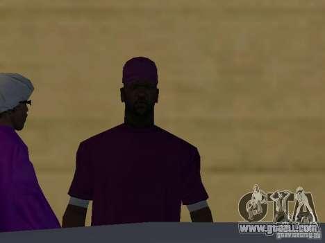 New skins Ballas for GTA San Andreas seventh screenshot