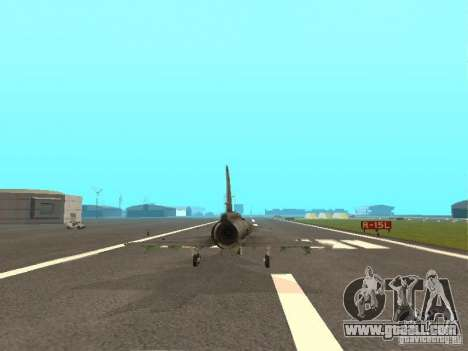 Saab JA-37 Viggen for GTA San Andreas back view