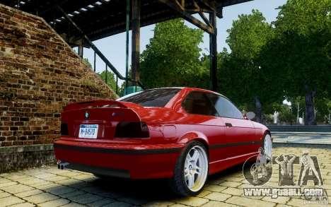 BMW M3 E36 v1.0 for GTA 4 back view