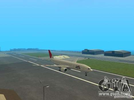 Boeing 777-200 Japan Airlines for GTA San Andreas back left view