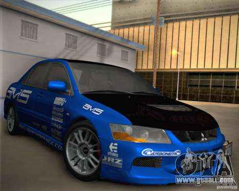 Mitsubishi Lancer Evolution IX Tunable for GTA San Andreas wheels