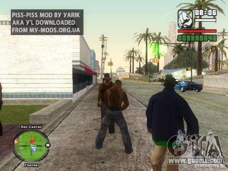 Piss Piss mod for GTA San Andreas second screenshot