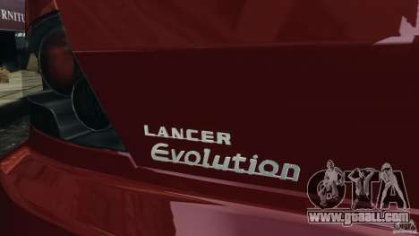 Mitsubishi Lancer Evolution 8 for GTA 4 side view