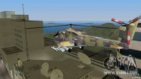Mi-24 HindB for GTA Vice City left view