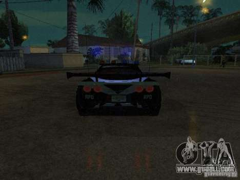 Chevrolet Corvette C6 from NFS MW for GTA San Andreas left view