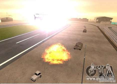 New effects of explosions for GTA San Andreas forth screenshot