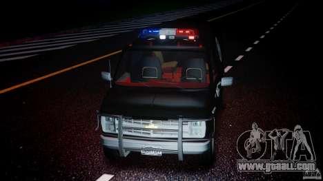 Chevrolet G20 Police Van [ELS] for GTA 4 upper view