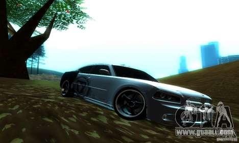 Dodge Charger SRT8 Mopar for GTA San Andreas back left view