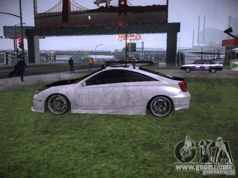 Toyota Celica for GTA San Andreas left view