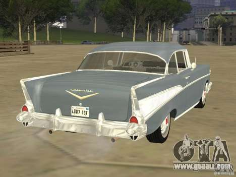 Chevrolet Bel Air 1957 for GTA San Andreas back left view