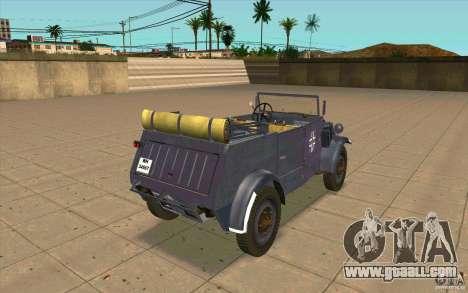 Kuebelwagen v2.0 normal for GTA San Andreas back left view
