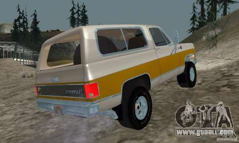 Chevrolet Blazer 1979 for GTA San Andreas left view