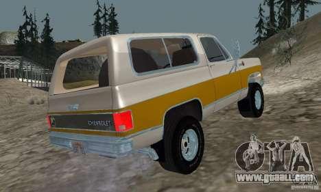 Chevrolet Blazer 1979 for GTA San Andreas left view