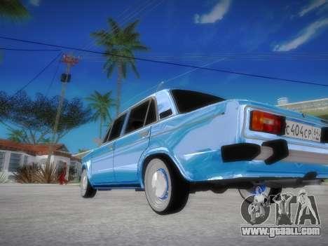 VAZ 2106 Retro V2 for GTA San Andreas back left view