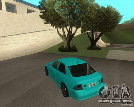 Lexus IS300 tuning for GTA San Andreas left view