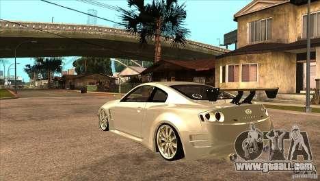 Infiniti G35 for GTA San Andreas back left view