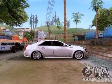 Cadillac CTS-V 2009 for GTA San Andreas inner view