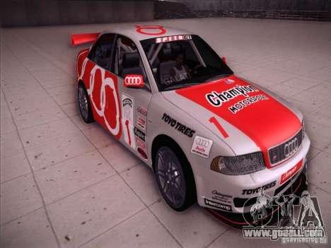Audi S4 Galati Race for GTA San Andreas back view