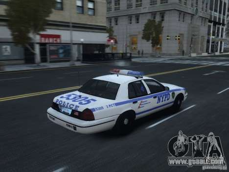 Ford Crown Victoria NYPD 2012 for GTA 4 right view