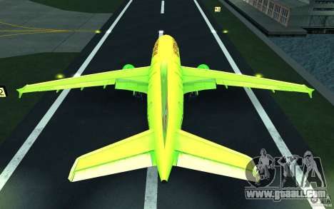 Airbus A310 S7 Airlines for GTA San Andreas bottom view
