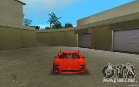 Ferrari F40 for GTA Vice City right view