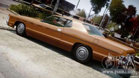 Mercury Monterey 2DR 1972 for GTA 4 interior