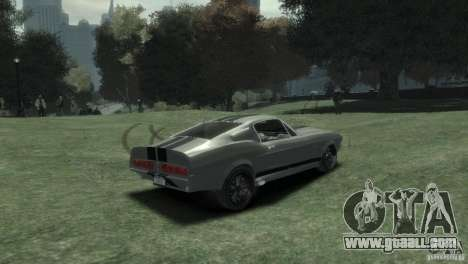 Ford Shelby GT500 Eleanor for GTA 4 back left view