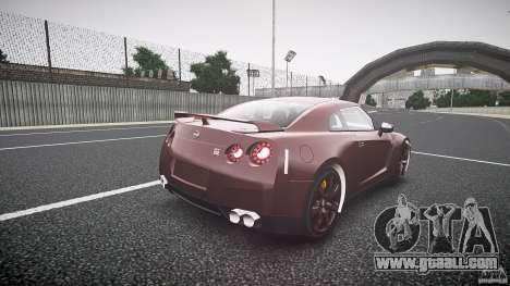 Nissan GT-R R35 2010 for GTA 4 side view