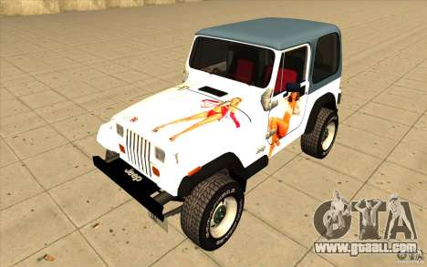 Jeep Wrangler 4.0 Fury 1986 for GTA San Andreas side view