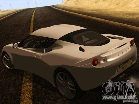 Lotus Evora for GTA San Andreas right view