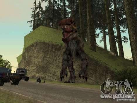 Dinosaurs Attack mod for GTA San Andreas seventh screenshot