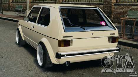 Volkswagen Golf Mk1 Stance for GTA 4 back left view