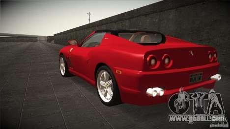Ferrari 575 Superamerica v2.0 for GTA San Andreas back left view