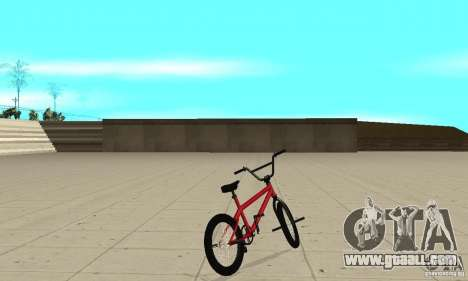 Powermatic BMX 2006 for GTA San Andreas back left view