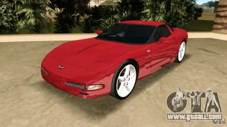 Chevrolet Corvette Z05 for GTA Vice City back view