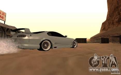 Toyota Supra for GTA San Andreas back view