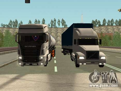 Volvo VNL for GTA San Andreas side view