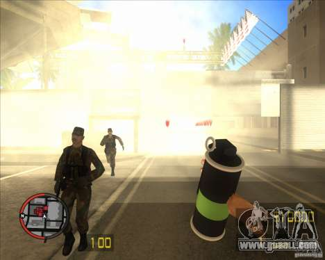 Smoke grenade HD for GTA San Andreas