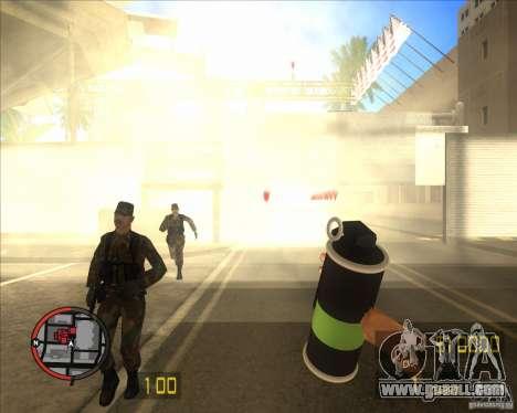 Smoke grenade HD for GTA San Andreas