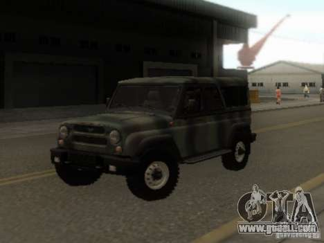 UAZ-3153 for GTA San Andreas back view