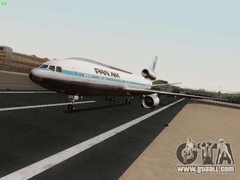 McDonell Douglas DC-10-30 PanAmerican Airways for GTA San Andreas left view