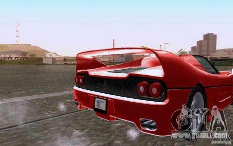 Ferrari F50 v1.0.0 1995 for GTA San Andreas back view