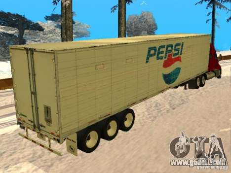 Trailer Artict3 for GTA San Andreas back left view
