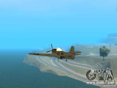 P-51 Mustang for GTA San Andreas right view