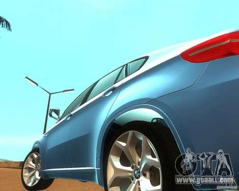 BMW Motorsport X6 M v. 2.0 for GTA San Andreas inner view