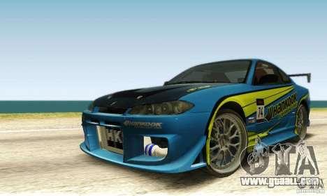 Nissan Silvia S15 for GTA San Andreas upper view