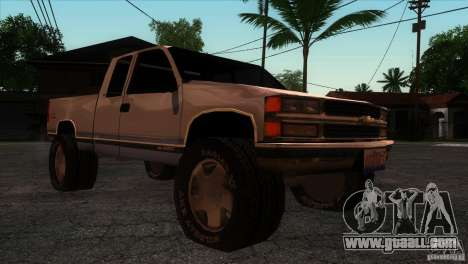 Chevrolet Silverado 1996 for GTA San Andreas back view