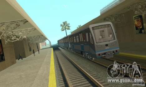 Rusich 4 train for GTA San Andreas
