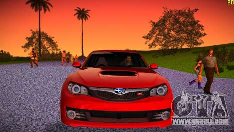 Subaru Impreza WRX STI (GRB) - LHD for GTA Vice City inner view